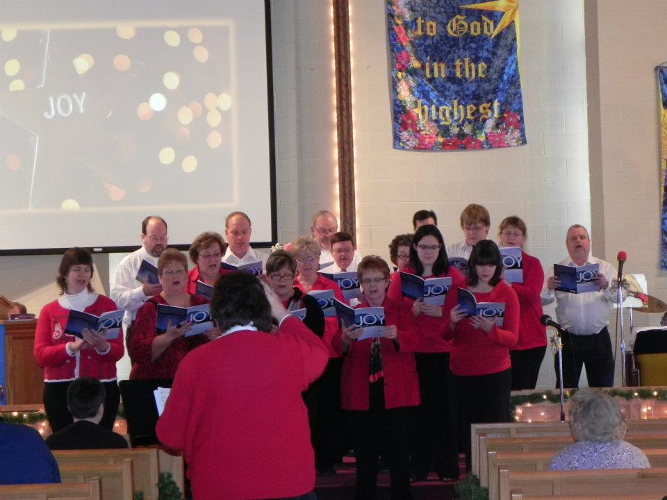 choir singing Christmas cantata