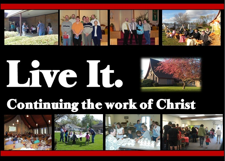 Live It!  pictures of the church doing ministry